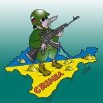 Русские в Крыму!!! Путин настроил против себя всю Украину! Картинка и стихи!