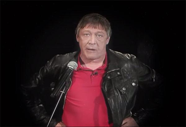 """Михаил Ефремов читает стих Дмитрия Быкова """"Я не люблю""""."""