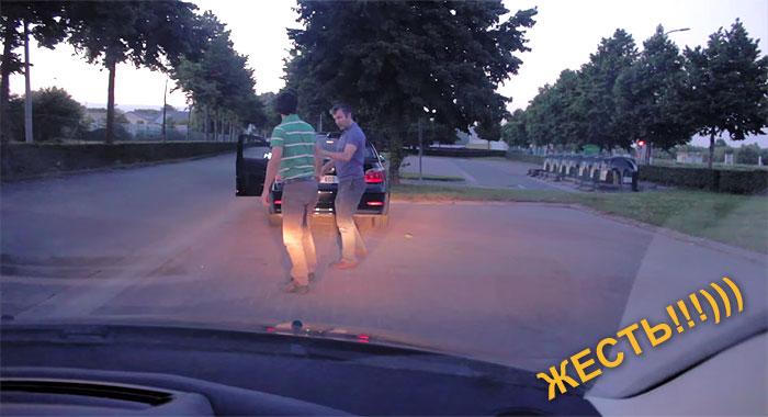 Невероятная разборка на дороге в Бельгии!!! Жан-Клод Ван Дамм нервно курит! ВИДЕО и анекдоты.