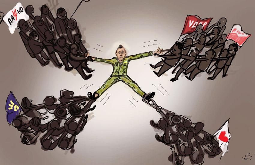 Выборы в Украине. Автор картинки Георгий Ключник.