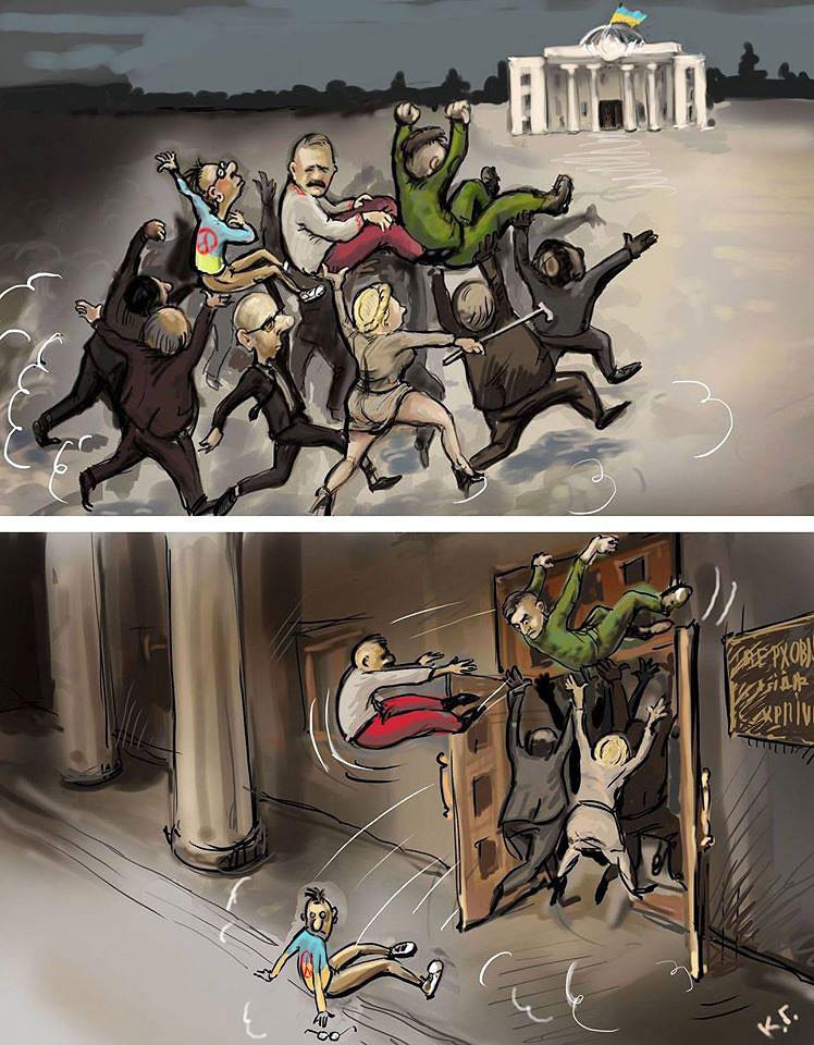 Выборы в Украине. Картинки - карикатуры. Автор картинки Георгий Ключник.