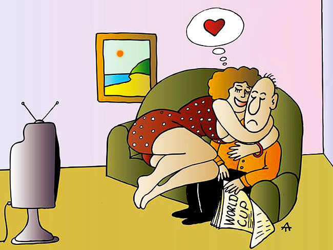 Смешные картинки жена и муж, днем рождения
