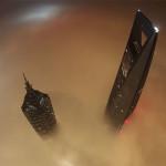 Небеса обетованные. Взгляд с Шанхайской Башни. 650 метров. Крутое видео!