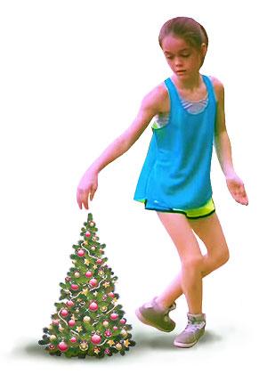 Мега популярный танец - движения на Новый год и 1 января 2015 года! У вас получится тоже! ))) Девушка и ёлочка.