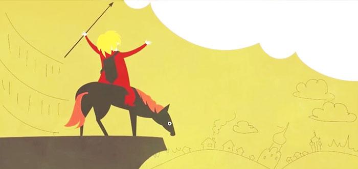 Вася Обломов - Национальная идея. Видео клип - мультфильм. Текст песни. Русский богатырь.