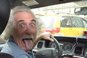 Анекдоты и приколы. Водитель такси - двойник Эйнштейна.