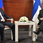 Встреча президента России с президентом Финляндии.