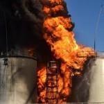 Пожар на нефтебазе под Киевом продолжается СМОТРЕТЬ ВИДЕО