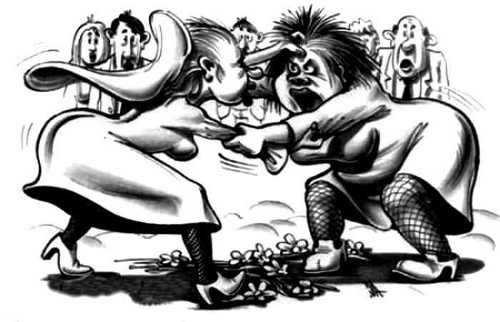 Борьба за мужчину - вечная тема женских боев