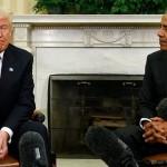 Невербальный язык тела раскрывает правду о встрече между Обамой и Трампом ФОТО