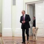 Собака Владимира Путина по кличке Юмэ напугала японских журналистов ВИДЕО